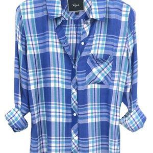 Rails Women Blue Plaid Shirt SZL